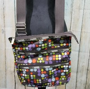 LeSportSac Tripple Zipper Crossbody Purse